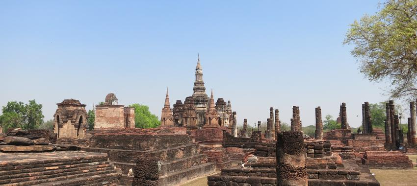 Cycling in the Ruins of Sukhothai