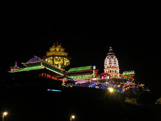 Kek Lok Si temple at night