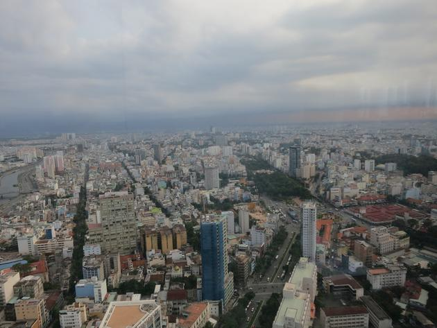 HCMC from Bitexco tower